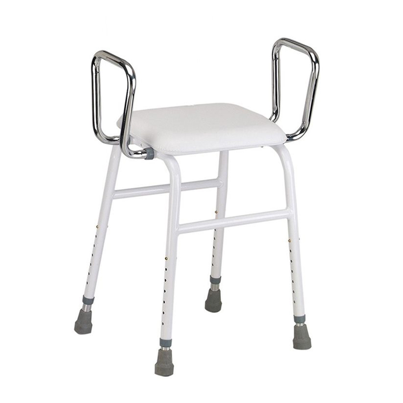 All-Purpose Stool with Adjustable Arms and Padded Back