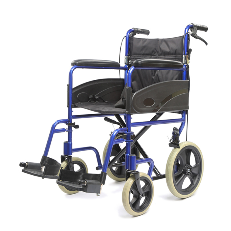 Lightweigh transport chair, Companion chair with fold down back,Folding transit wheechair