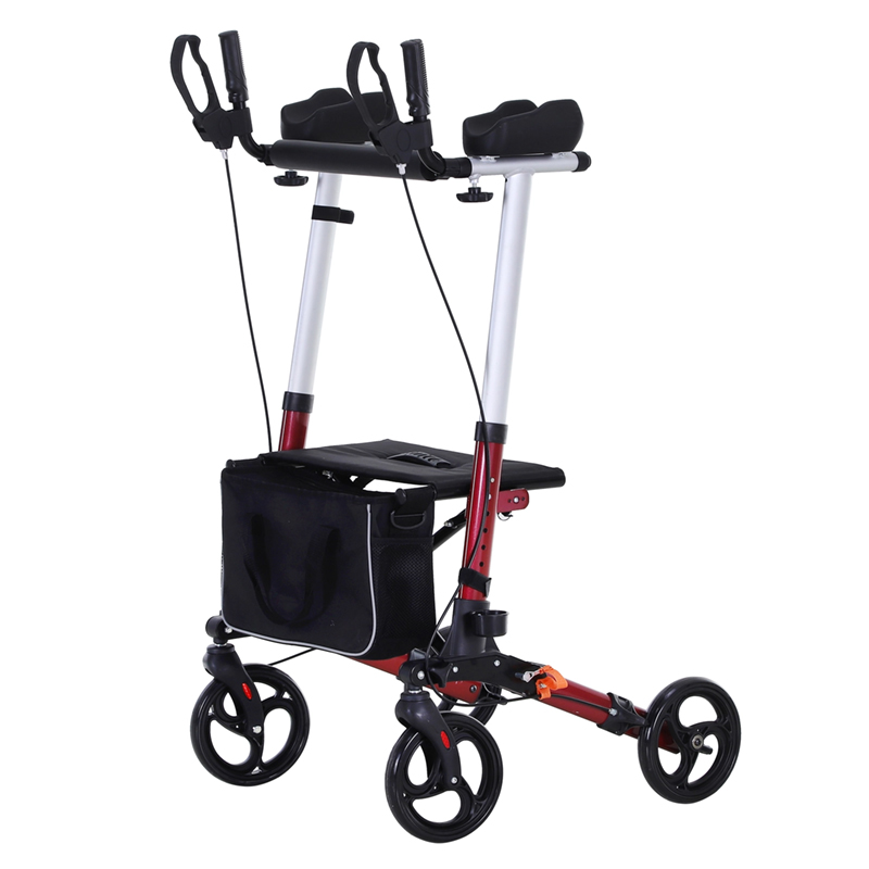 Folding Upright Rollator Walker